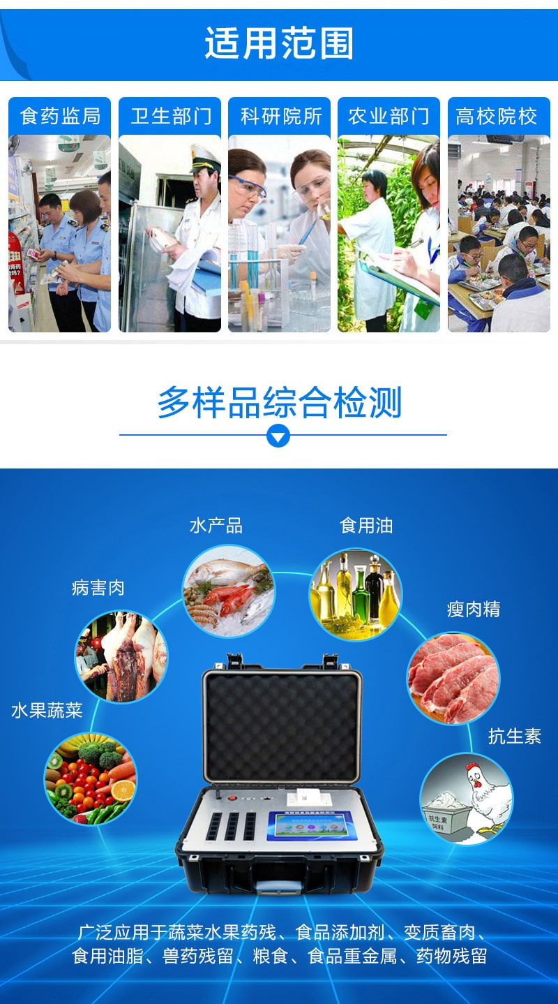 食品安全检测仪应用